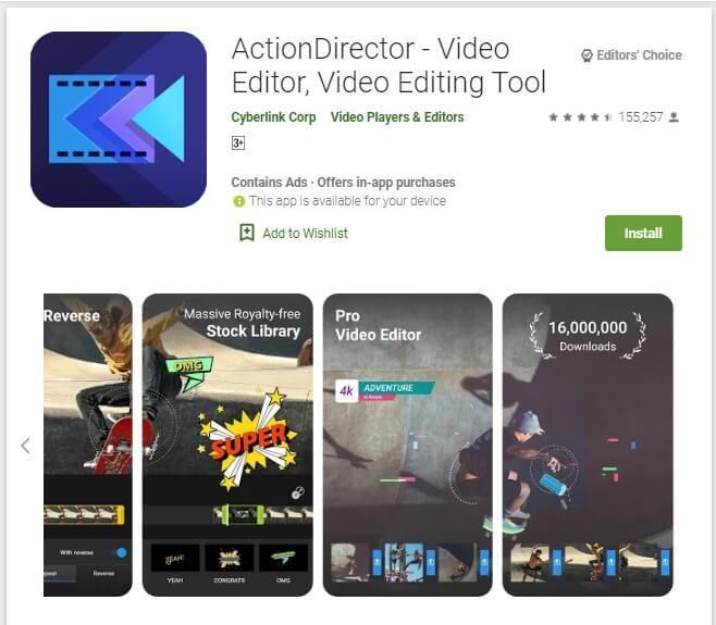Aplikasi Edit Video Android Tanpa Watermark ActionDirector