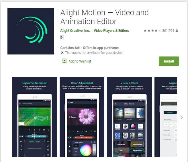 Aplikasi Edit Video Android Tanpa Watermark Alight Motion