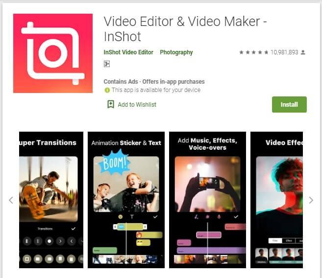 Aplikasi Edit Video Android Tanpa Watermark InShot