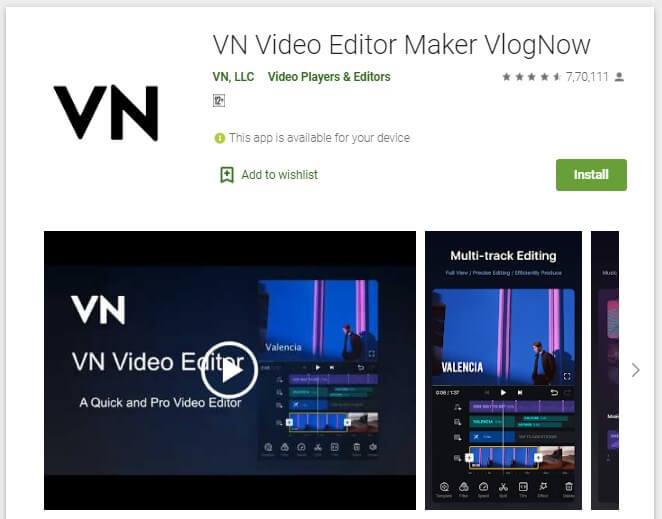 Aplikasi Edit Video Android Tanpa Watermark VN Video Editor