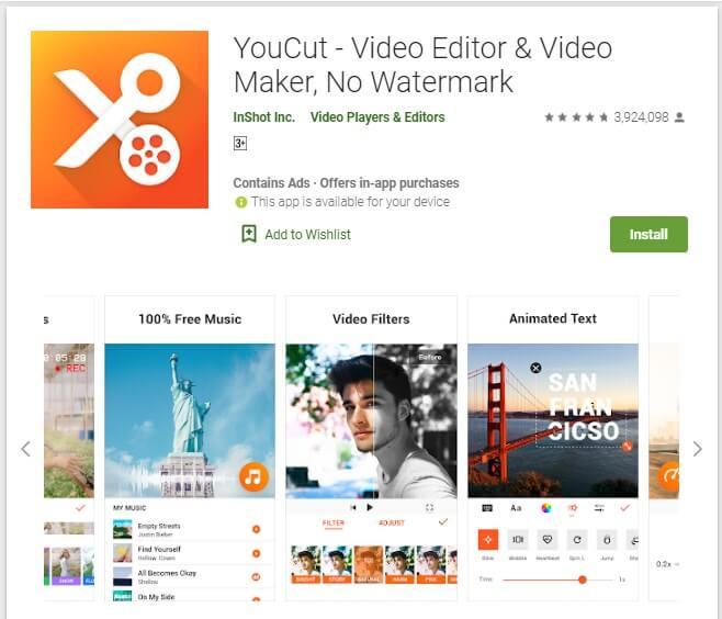 Aplikasi Edit Video Android Tanpa Watermark YouCut