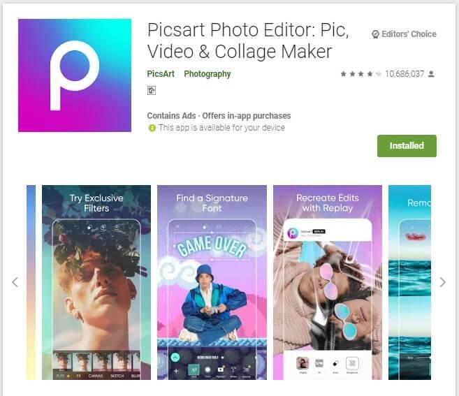 Aplikasi Penghapus Objek Foto Terbaik Android PicsArt