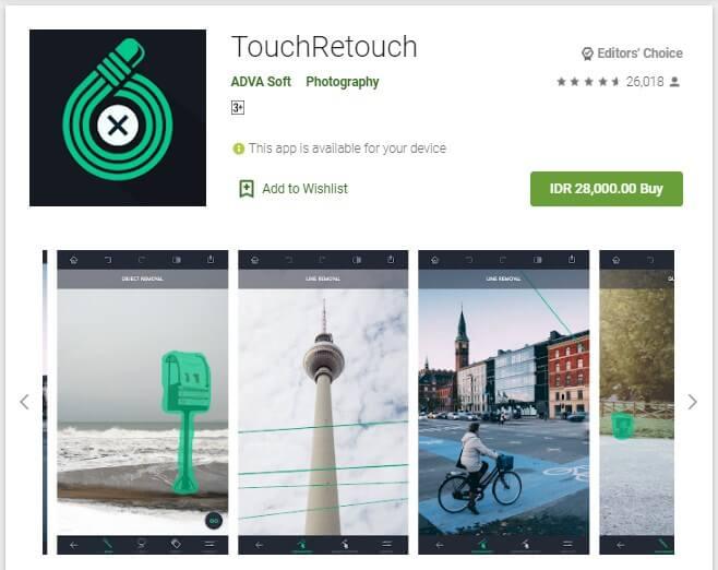 Aplikasi Menghapus Objek Foto Terbaik Android TouchRetouch