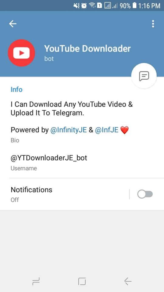 Bot YouTube Downloader terbaru 2021 untuk download video youtube di telegram