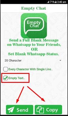 Cara Membuat Tulisan Kosong di WhatsApp Dengan Aplikasi Empty Chat