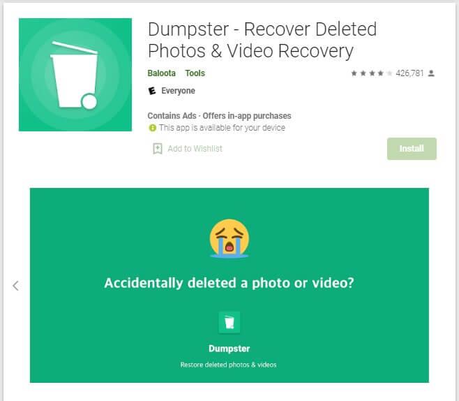 Cara Mengembalikan Video yang terhapus permanen di HP dengan Aplikasi Dumpster