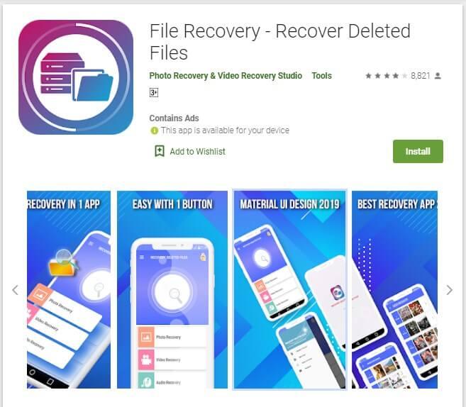 Cara Mengembalikan Video yang terhapus permanen di HP dengan Aplikasi File Recovery