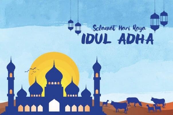 Edit foto Idul Adha online membuat kartu ucapan selamat hari raya