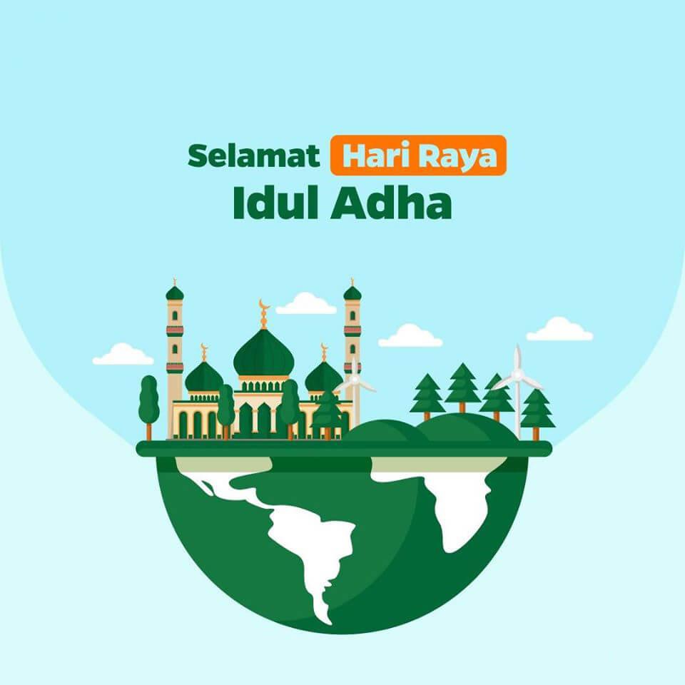 cara edit foto Idul Adha online untuk membuat kartu ucapan selamat Hari Raya dengan Mudah lewat Canva