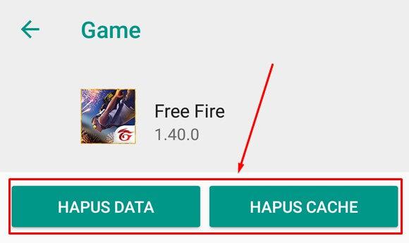 Hapus Data dan Hapus Cache FF Free Fire untuk mengganti Server FF