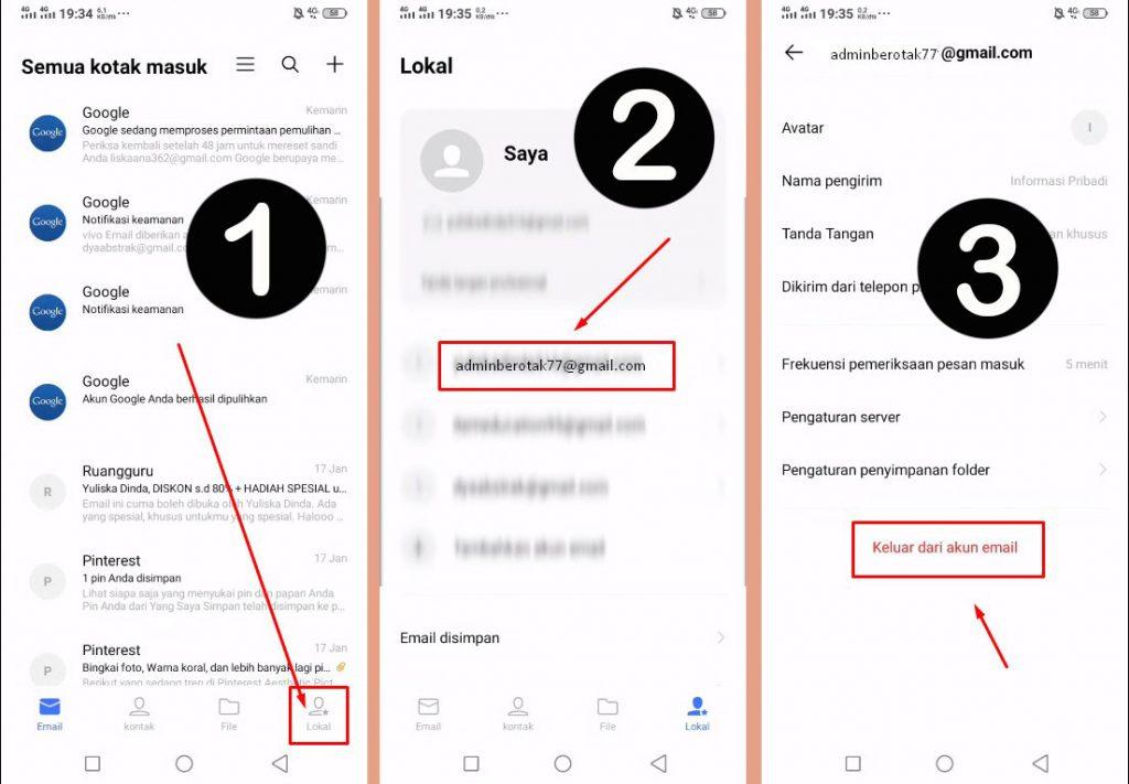 Langkah-langkah cara mengatasi kata sandi email kadaluarsa di HP Vivo lewat Email