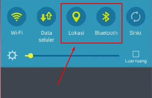 Cara Mematikan Bluetooth yang Hidup Sendiri di HP Vivo dengan mematikan fitur GPS atau pemindai lokasi di HP Vivo