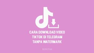 Tutorial Bagaimana Cara Download Video Tiktok Tanpa Watermark di Telegram