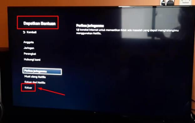 Cara Logout Netflix di Smart TV Mi TV